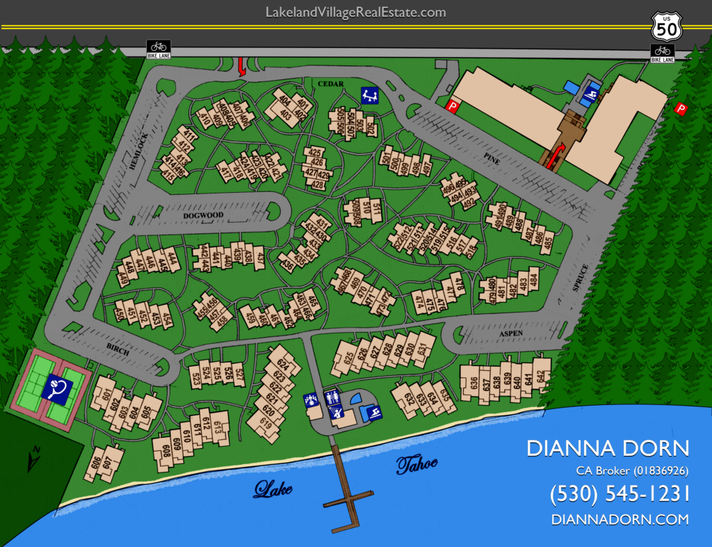 Lakeland Village Townhouse Map